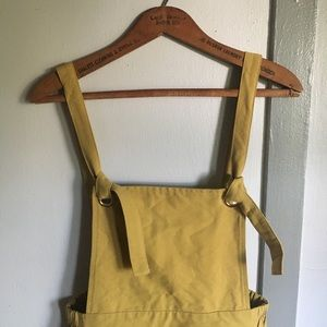 🌼Roolee NWT Canary Overall Jumper Dress🌼